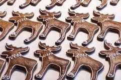 Domowej roboty piernikowi ciastka w kształcie łosie Obraz Royalty Free