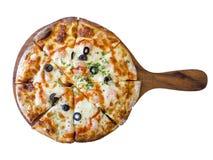 Domowej roboty pikantności garneli pizza Fotografia Stock