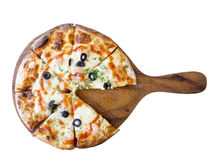 Domowej roboty pikantności garneli pizza Obraz Royalty Free