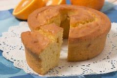 Domowej roboty pomarańcze tort Fotografia Royalty Free