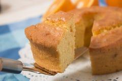 Domowej roboty pomarańcze tort Zdjęcie Stock