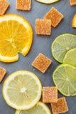 Domowej roboty pomarańczowy owocowy marmoladowy cukierek Fotografia Stock