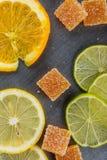 Domowej roboty pomarańczowy owocowy marmoladowy cukierek Fotografia Royalty Free