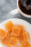 Domowej roboty pomarańczowy owocowy marmoladowy cukierek Zdjęcia Royalty Free
