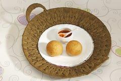 Domowej roboty przekąska - kartoflani croquettes lub aloo bonda Fotografia Royalty Free