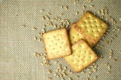 Domowej roboty pszeniczny krakers, zakończenie Zdjęcia Royalty Free