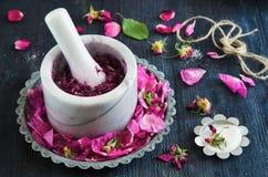 Domowej roboty róża dżem zdjęcie royalty free