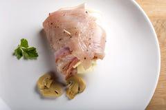 Domowej roboty rolki z świeżą kurczak piersią Fotografia Stock