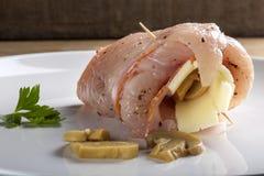 Domowej roboty rolki z świeżą kurczak piersią Zdjęcie Royalty Free