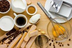 Domowej roboty Tiramisu tort zdjęcie royalty free