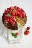 Domowej roboty tort z jagodami zdjęcia stock
