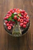 Domowej roboty tort z jagody zdjęcie royalty free