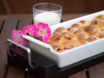 domowej roboty torta śniadaniowy ogród Fotografia Stock