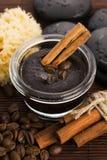 Domowej roboty twarz i ciało organicznie wszystkie naturalna kawowa pętaczka Obrazy Stock