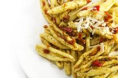Domowej roboty Włoski makaron rozmaitości capunti z aglio e olio który, Zdjęcia Royalty Free