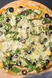 Domowej roboty weganin pizza zdjęcia stock