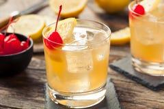 Domowej roboty whisky podśmietania koktajlu napój obrazy stock