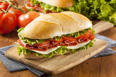 Domowej roboty Włoska okręt podwodny kanapka Obrazy Royalty Free