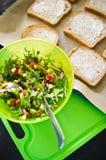 Domowej roboty zdrowe kanapki z łososiem i avocado Obraz Stock