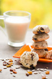 Domowej roboty zdrowi ciastka fotografia stock