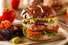 Domowej roboty Zdrowi Indyczy hamburgery Obrazy Stock