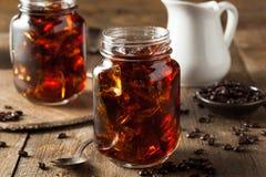 Domowej roboty Zimna parzenie kawa obrazy royalty free