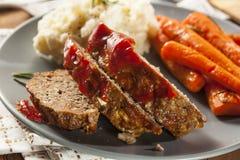 Domowej roboty Zmielony wołowiny Meatloaf zdjęcie royalty free