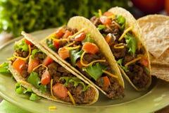 Domowej roboty Zmielony wołowiny Tacos Zdjęcia Royalty Free