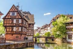 Domowi garbarzi, Mały Francja okręg. Strasburg Zdjęcie Royalty Free