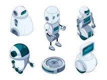Domowi roboty pomocniczy Różnorodne pomocy maszyny ilustracji
