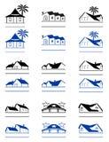 domowi znaki ilustracja wektor