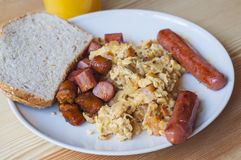 Domowy śniadanie zdjęcie royalty free