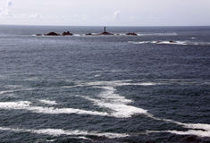 domowy światło kołysa morze Zdjęcie Royalty Free
