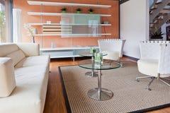 domowy żywy nowożytny pokój Zdjęcie Stock