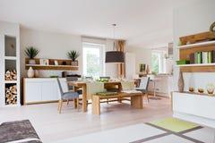 domowy żywy nowożytny pokój Zdjęcie Royalty Free