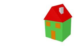 Domowy 3d Obraz Stock