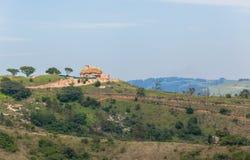 Domowy Afryka Wiejski krajobraz Zdjęcia Stock