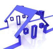 Domowy błękit Symbol Pokazywać Nieruchomość Lub Wynajem ilustracji