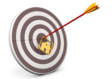Domowy Bullseye cel ilustracji