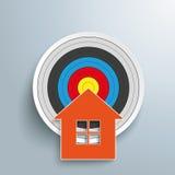 Domowy cel ilustracja wektor