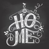 Domowy chalkboard znaka literowanie royalty ilustracja