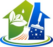Domowy cleaning usługa logo royalty ilustracja