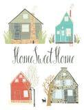 Domowy cukierki dom ilustracja wektor