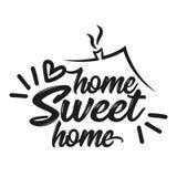 Domowy cukierki dom - typografia plakat ilustracja wektor