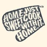 Domowy cukierki domu literowanie na mitynki dla gotować Fotografia Royalty Free