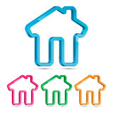 Domowy 3D symbol, Wektorowa ilustracja Obrazy Stock