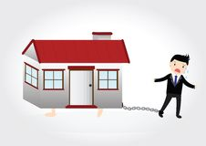 Domowy dług Obrazy Royalty Free