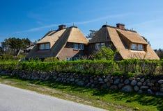 domowy dach pokrywać strzechą Zdjęcia Stock