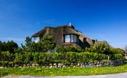 domowy dach pokrywać strzechą Obraz Royalty Free