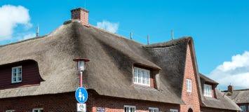 domowy dach pokrywać strzechą Obraz Stock